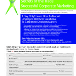 Corporate Marketing Workshop Flyer